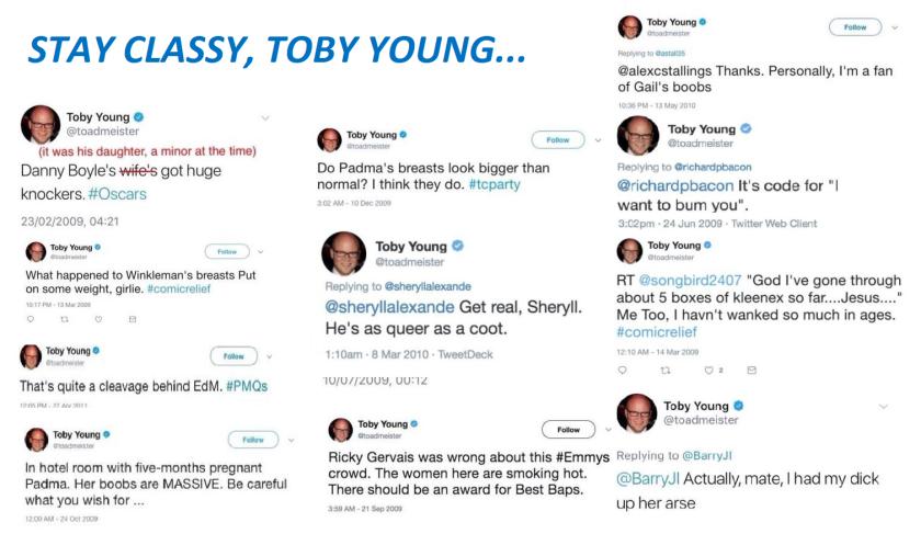 Toby tweets