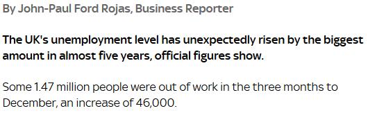 first unemployment rise